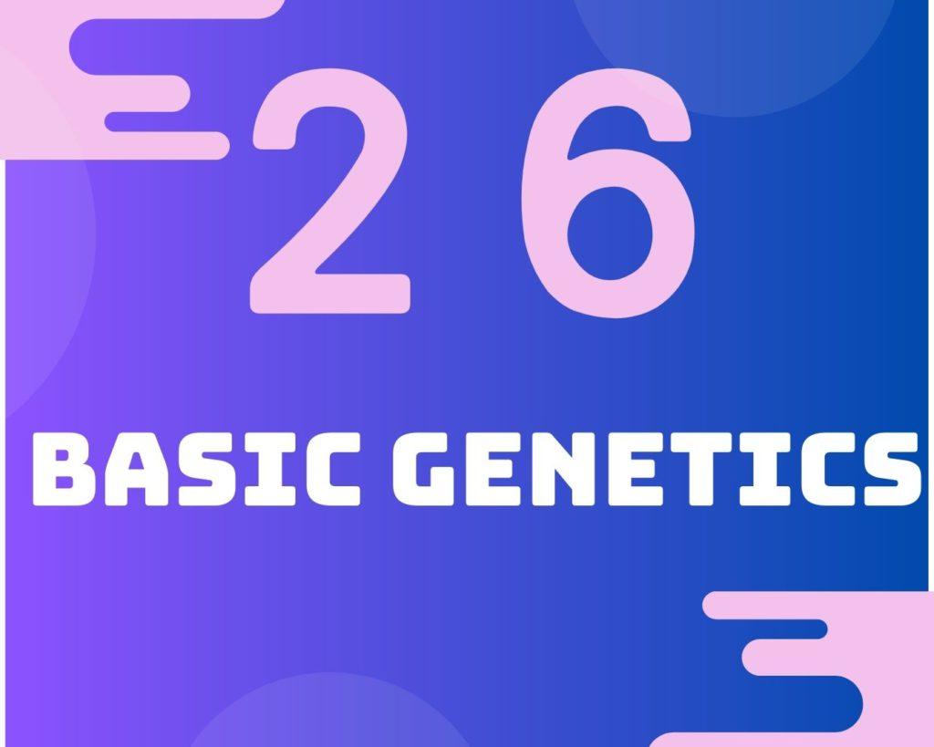 26 Basic genetics